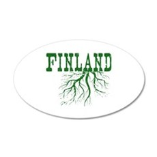 Finland Roots 35x21 Oval Wall Decal
