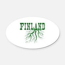Finland Roots Oval Car Magnet