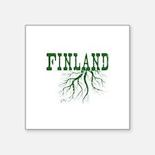 "Finland Roots Square Sticker 3"" x 3"""