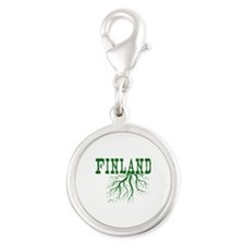 Finland Roots Silver Round Charm