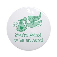Going to be Aunt Ornament (Round)