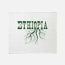Ethiopia Roots Throw Blanket