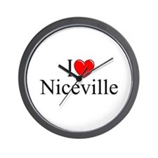 """I Love Niceville"" Wall Clock"