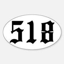 """""""518"""" Oval Decal"""