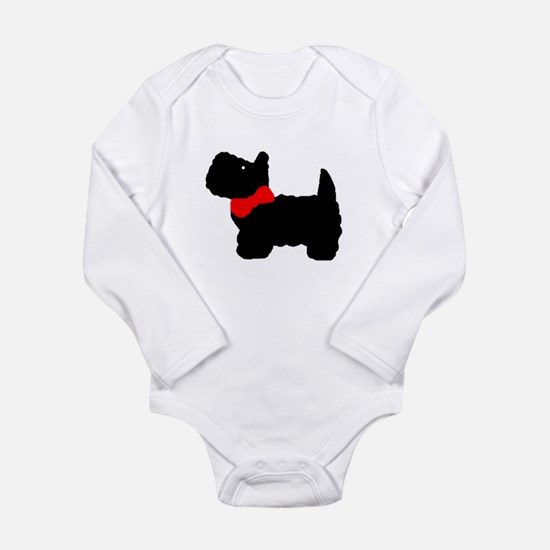 Cute Scottie puppy Long Sleeve Infant Bodysuit