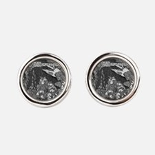 Cute Tales of mystery and imagination Round Cufflinks