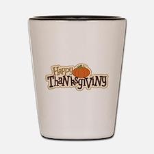 Unique Happy thanksgiving Shot Glass