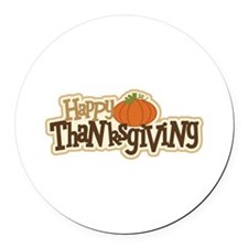 Cute Happy thanksgiving Round Car Magnet