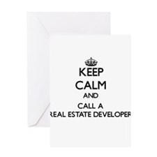 Keep calm and call a Real Estate De Greeting Cards