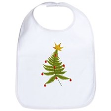 Nature Fern Christmas Tree Bib