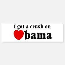 I got a crush on Obama (red h Bumper Bumper Bumper Sticker