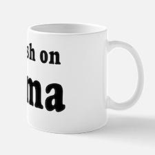 I got a crush on Obama (red h Mug