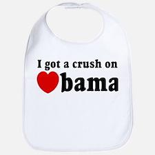 I got a crush on Obama (red h Bib