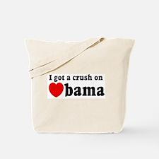 I got a crush on Obama (red h Tote Bag