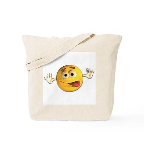 Goofy Emoticon Smiley Tote Bag