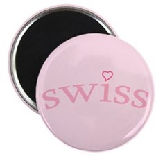"""Swiss with Heart"" Magnet"