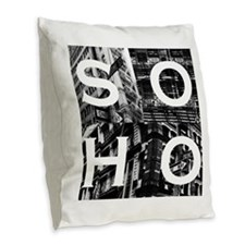 Soho Tee Burlap Throw Pillow