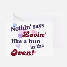 Lovin the Bun in the Oven Greeting Cards (Package