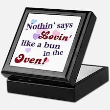 Lovin the Bun in the Oven Keepsake Box