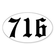 """""""716"""" Oval Decal"""