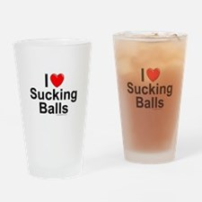 Sucking Balls Drinking Glass