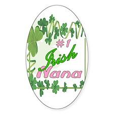 #1 IRISH NANA Oval Decal
