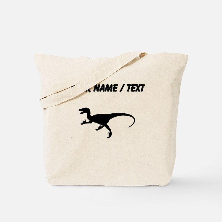 Velociraptor Silhouette (Custom) Tote Bag
