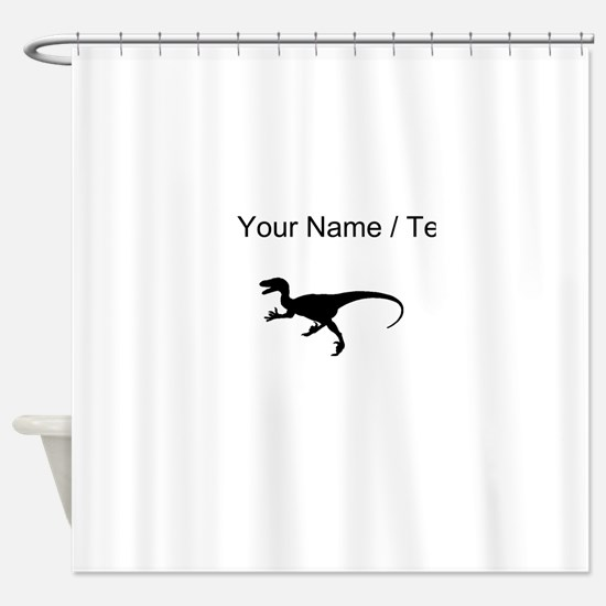 Velociraptor Silhouette (Custom) Shower Curtain