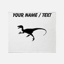 Velociraptor Silhouette (Custom) Throw Blanket
