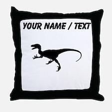 Velociraptor Silhouette (Custom) Throw Pillow