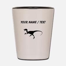 Velociraptor Silhouette (Custom) Shot Glass