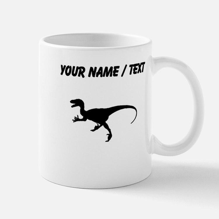 Velociraptor Silhouette (Custom) Mugs