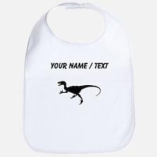 Velociraptor Silhouette (Custom) Bib