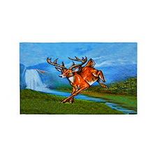 Waterfall Deer 3'x5' Area Rug