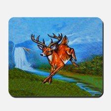 Waterfall Deer Mousepad