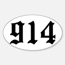 """""""914"""" Oval Decal"""