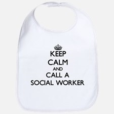 Keep calm and call a Social Worker Bib