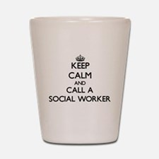 Keep calm and call a Social Worker Shot Glass