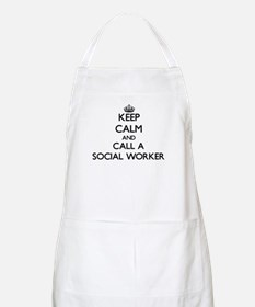 Keep calm and call a Social Worker Apron