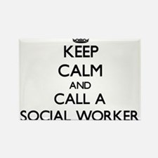 Keep calm and call a Social Worker Magnets