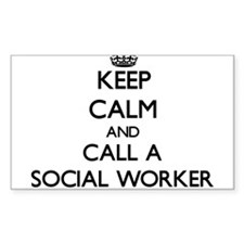 Keep calm and call a Social Worker Decal