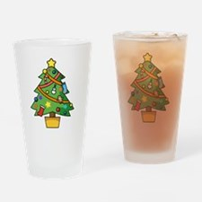 Cute Christmas tree Drinking Glass
