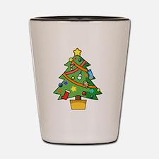 Cute Christmas tree Shot Glass