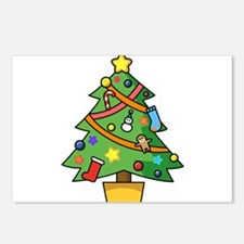 Christmas tree Postcards (Package of 8)