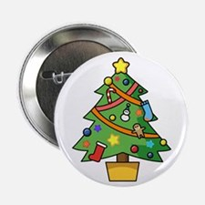 "Christmas tree 2.25"" Button"