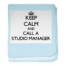 Keep calm and call a Studio Manager baby blanket