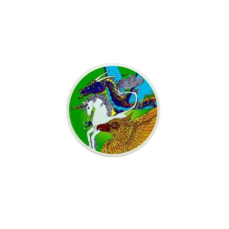 Defenders: Green Mini Button (10 pack)