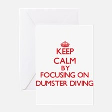 Keep Calm by focusing on Dumster Di Greeting Cards