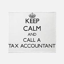 Keep calm and call a Tax Accountant Throw Blanket