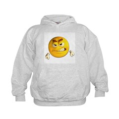 Angry Emoticon Smiley (Front) Hoodie
